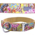 MARTINGALE DOG COLLAR - TROPICAL FLOWER DELIGHT